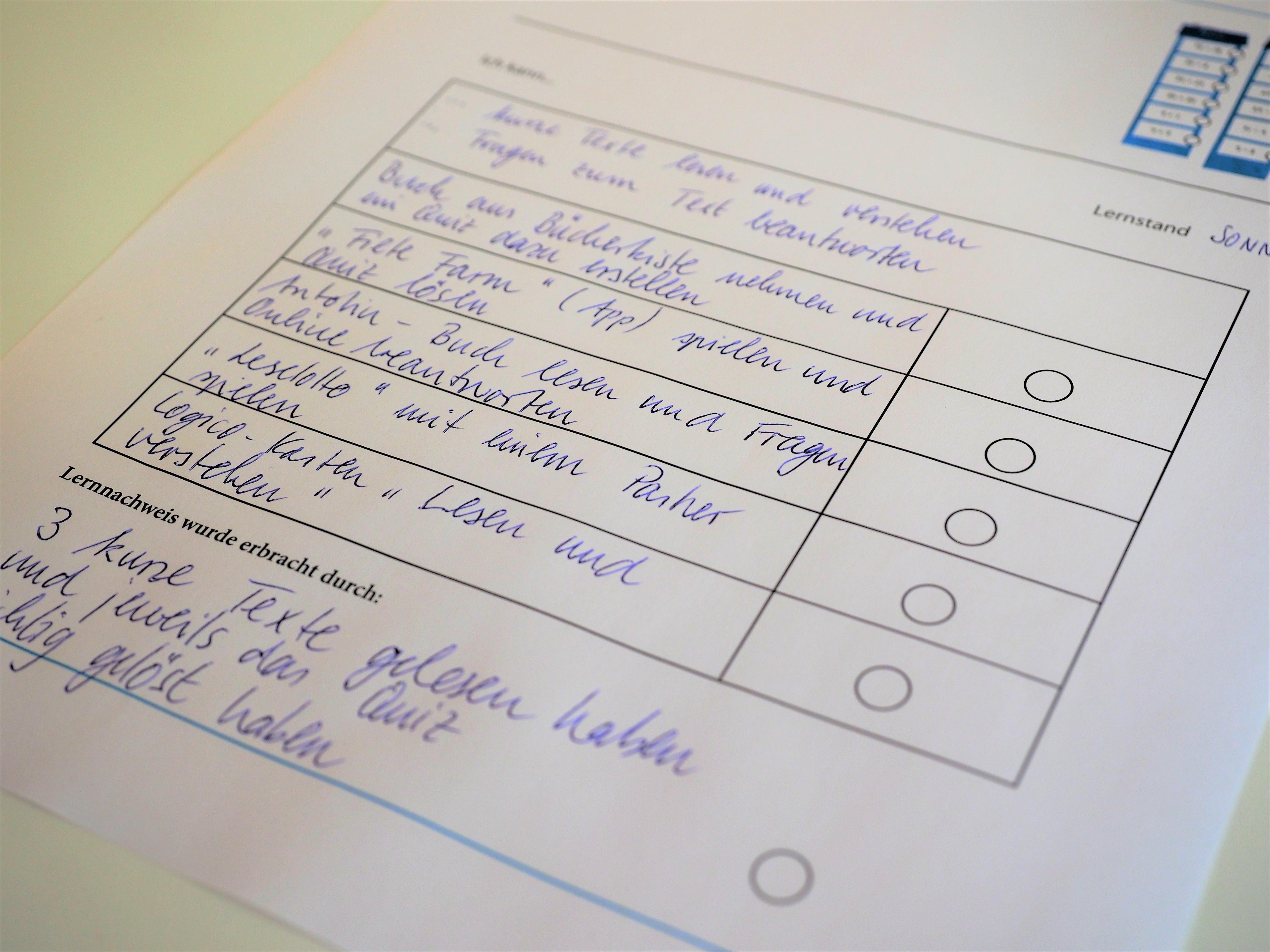 Lernkompetenznachweis am Beispiel der Checkliste